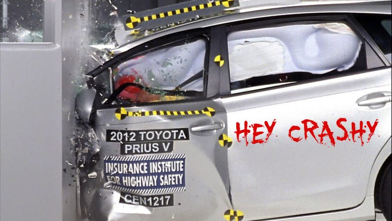Illustration for article titled Safety Groups Blasts Toyota For 'Poor' Camry And Prius V Crash Test Performance