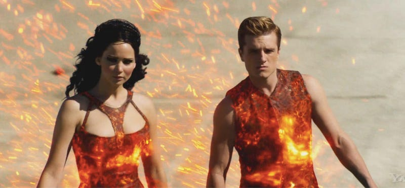 Illustration for article titled How Catching Fire transformed Peeta from Wuss to Blood Covered Bad Ass