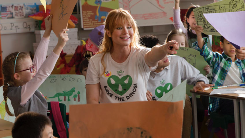 Bryce Dallas Howard as Jurassic World's Claire Dearing.