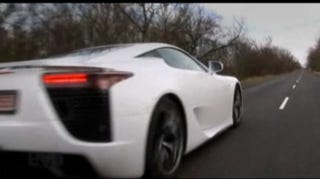 Illustration for article titled VIDEO: Driving The $400,000 Lexus LFA On The Road