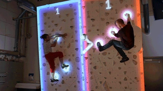 Playing Pong While Climbing A Wall Looks Like A Lot Of