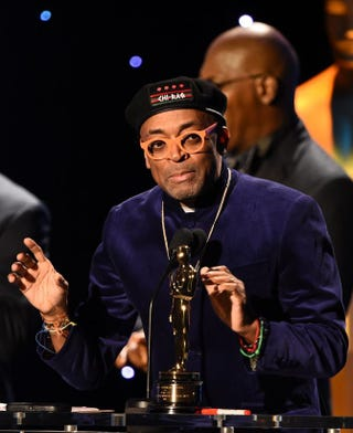 Director Spike Lee speaks Nov. 14, 2015, during the seventh annual Governors Awards ceremony presented by the Board of Governors of the Academy of Motion Picture Arts and Sciences in Hollywood, Calif.ROBYN BECK/AFP/Getty Images