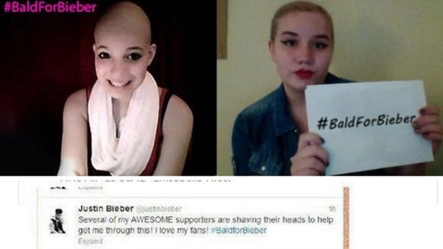 ... to Shave Their Heads by Spreading Rumor that Justin Bieber Has Cancer