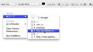 Illustration for article titled ClipMenu Is a Simple Yet Powerful Clipboard Manager and Snippet Manager for Mac
