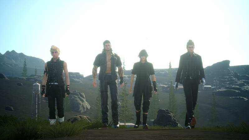 The main cast of Final Fantasy XV