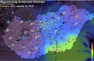 Illustration for article titled Mégsem orbánista dezinformáció a hidegfront, nálunk most kezdett hó is esni