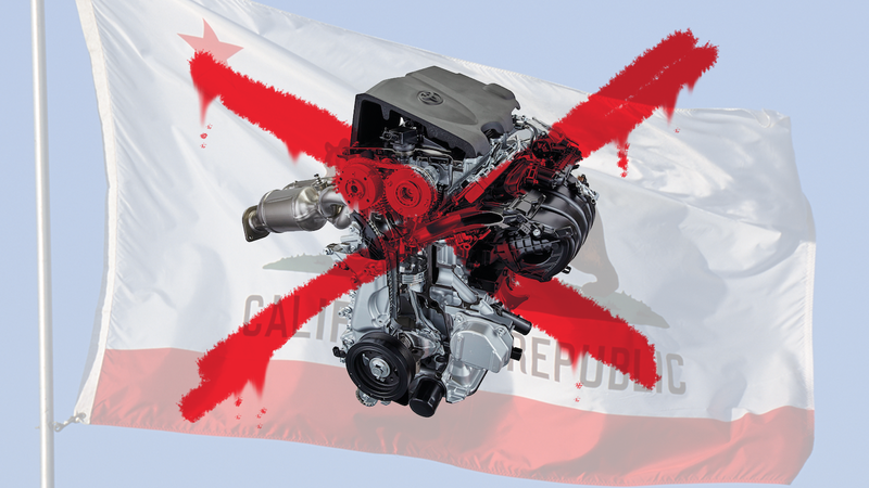 Illustration for article titled Why We Shouldn't Freak Out About A California Ban On Gas And Diesel Engines