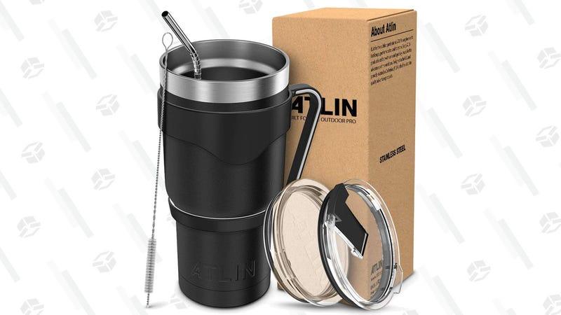 Vaso/termo Atlin   $19   AmazonGráfico: Chelsea Stone