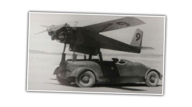 Illustration for article titled I Bet We Can Identify This Car That's Being Used To Launch A Very Early Drone Aircraft
