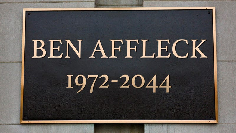 Illustration for article titled City Of Boston Erects New Plaque Commemorating Spot Where Ben Affleck Will Die