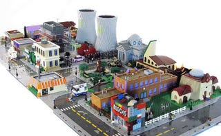 Illustration for article titled The Simpsons' Springfield Made Entirely Out Of Legos!