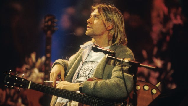One of Kurt Cobain's old royalty checks was found in the basement of a Seattle record store