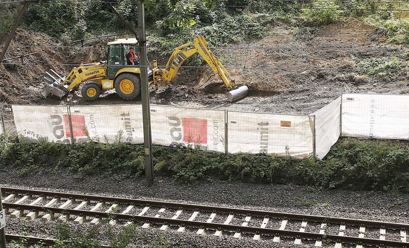 Heavy machinery begins the search for a fabled Nazi gold train in Poland today. Image: Czarek Sokolowski/AP