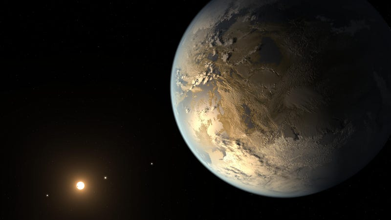 Artist's conception of Kepler-186f, one of 2,327 confirmed exoplanets discovered by the Kepler Space Telescope.