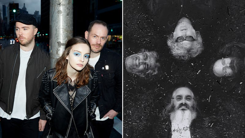 Chvrches (Photo: Danny Clinch) and Wooden Shjips (Photo: Jason Powers)