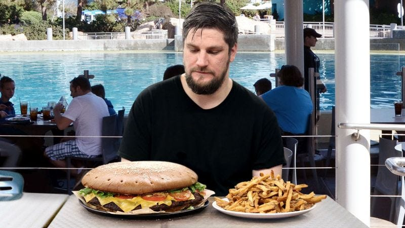 Illustration for article titled SeaWorld Café Introduces New 5-Pound Orca Burger–Eating Challenge
