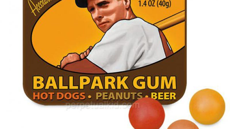 Illustration for article titled New 'Ballpark Gum' Tastes Like Peanuts, Hot Dogs, and Beer