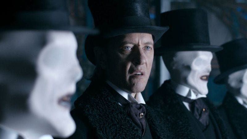 Richard E. Grant is the one with eyes (Doctor Who)