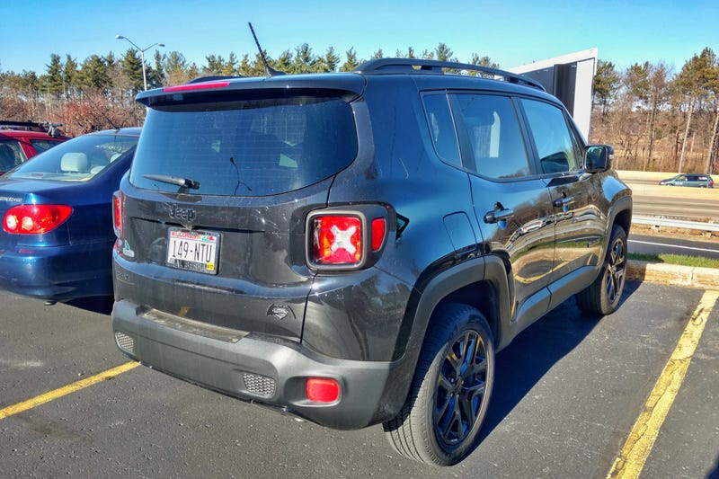 Heading Out To Lunch Today I Spotted A Little Badge On This Here Jeep Renegade Parked At Work Then Remembered Is Dawn Of Justice