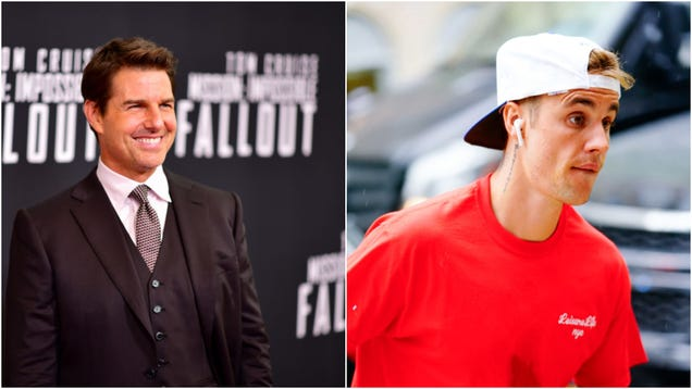 Justin Bieber backs down from Tom Cruise fight challenge, depriving us all of prime entertainment