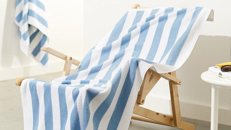 AmazonBasics Cotton Beach Towel - Sky Blue, Pack of 2   $15   AmazonAmazonBasics Cotton Beach Towel - Seafoam Green, Pack of 2   $16   AmazonAmazonBasics Cotton Beach Towel - Navy Blue, Pack of 2   $16   Amazon
