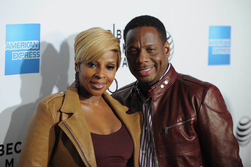 Mary J. Blige and Kendu Isaacs in New York City on April 16, 2015 Bryan Bedder/Getty Images for American Express