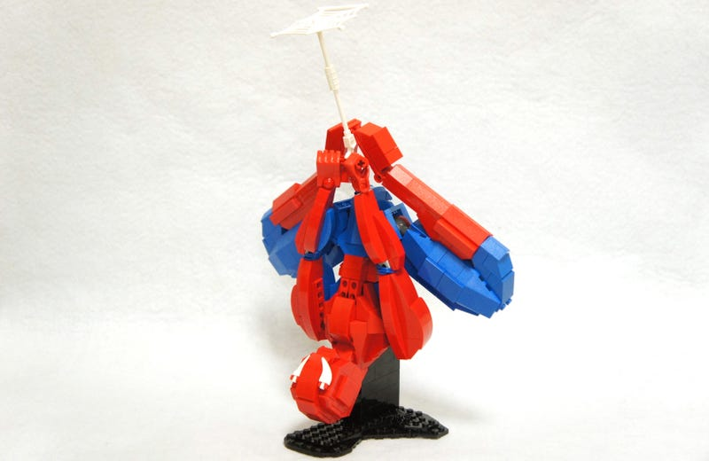 Illustration for article titled This mid-swing Spider-Man is a wonderful display