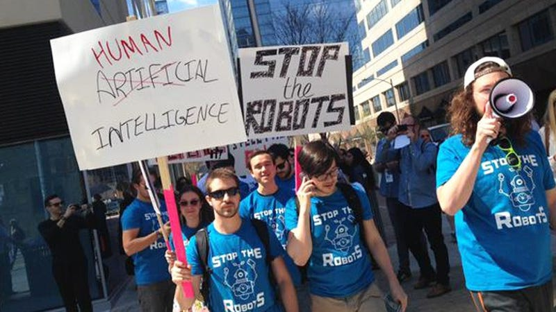 activists stage antiai protest at sxsw