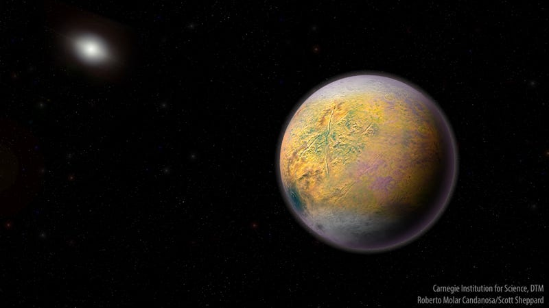 Artist's conception of the hypothetical Planet Nine, sometimes referred to as Planet X. The discovery of new dwarf planet in the outer reaches of the Solar System is providing additional evidence of its existence.
