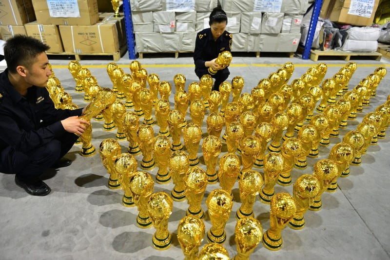 Illustration for article titled That World Cup Trophy You Bought In Chinatown Might Be Fake
