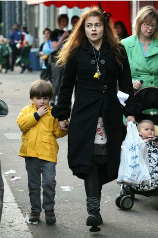Illustration for article titled Helena Bonham Carter & Son: Rubber Ducks & Raincoats