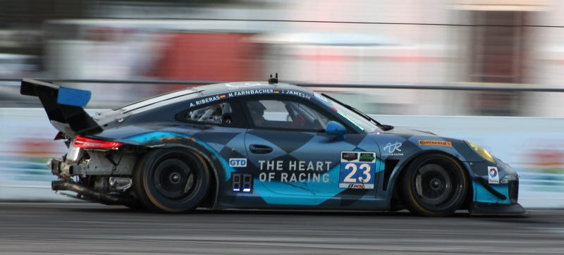 Illustration for article titled 12 Hours Of Sebring Ends With Total Chaos In GTD Class