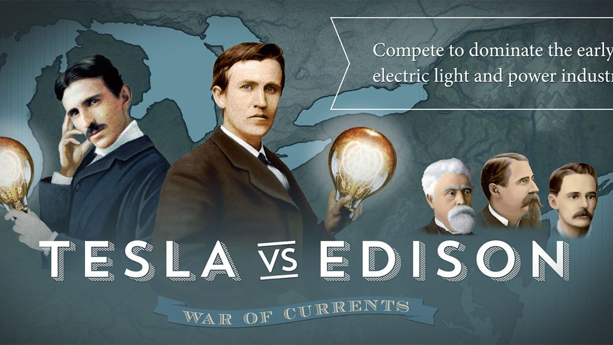 New Board Game Pits Tesla Against Edison, History's Greatest Underdog