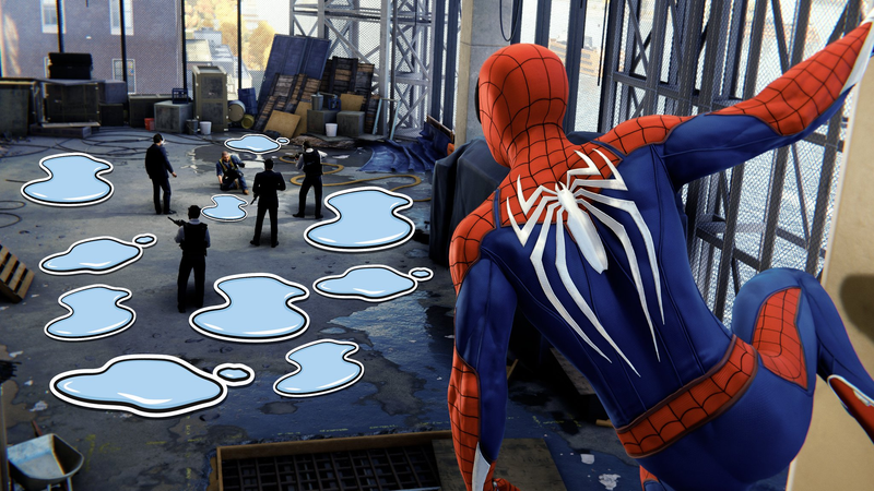 Illustration for article titled Finally, Players Can Add As Many Puddles To Spider-Man As They Want