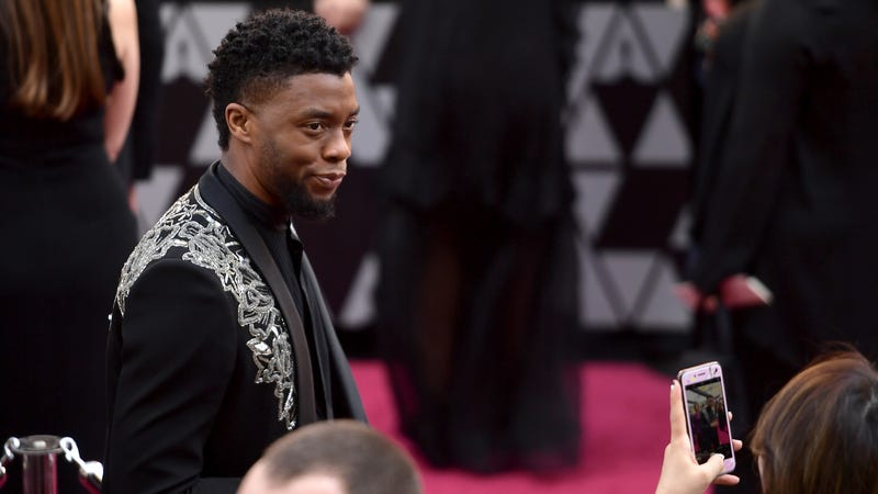 Chadwick Boseman attends the 90th Annual Academy Awards.
