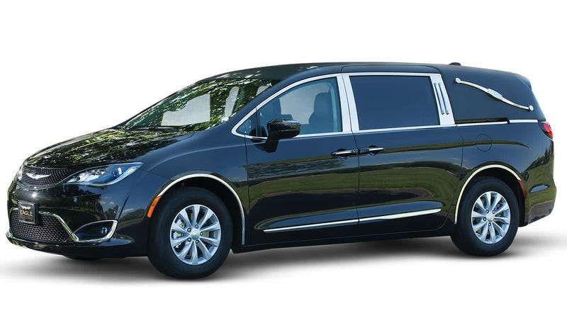 Illustration for article titled If we do get shut down, can we ride to the funeral in a Chrysler Pacifica hearse?