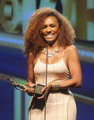 Janet Mock speaks onstage at the AdColor Awards at the Beverly Hilton Hotel on Sept. 21, 2013, in Beverly Hills, Calif.  Mike Windle/Getty Images for AdColor