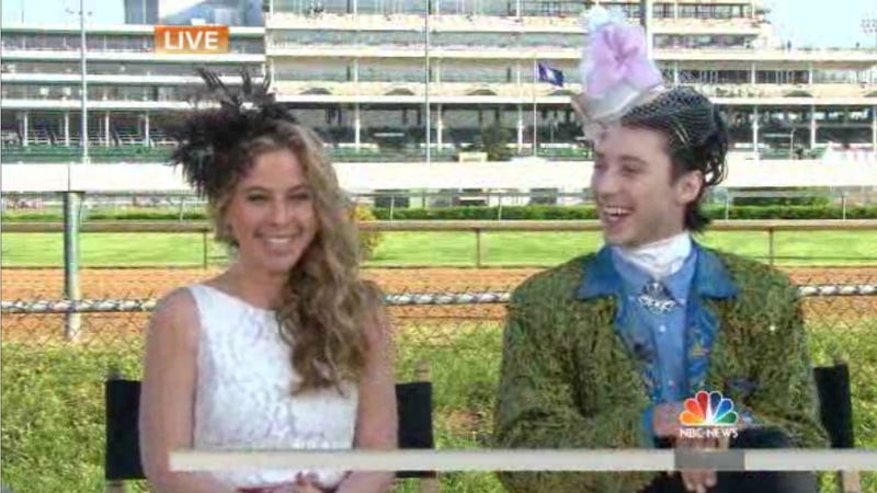 Illustration for article titled Johnny Weir's Pre-Kentucky Derby Hat Is a Thing of Beauty