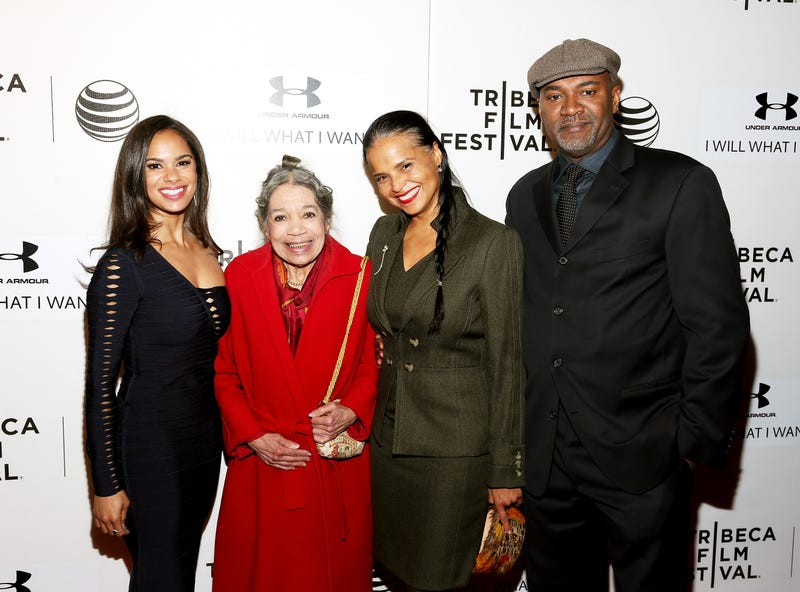 Misty Copeland, Raven Wilkinson, Victoria Rowell and Nelson George attend the premiere of A Ballerina's Tale during the 2015 Tribeca Film Festival in New York City on April 19, 2015. (Rob Kim/Getty Images for the 2015 Tribeca Film Festival)