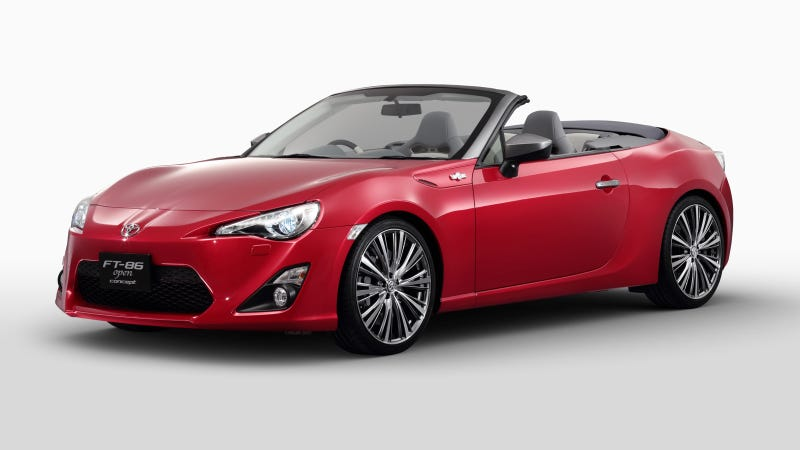 Illustration for article titled The Toyota FT-86 Open Concept Looks Damn Good In Red