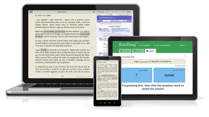 Illustration for article titled Readlang, la extensión de Chrome que te enseña idiomas mientras navegas