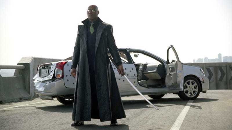 Illustration for article titled Morpheus From The Matrix Is Shilling For Kia At The Super Bowl