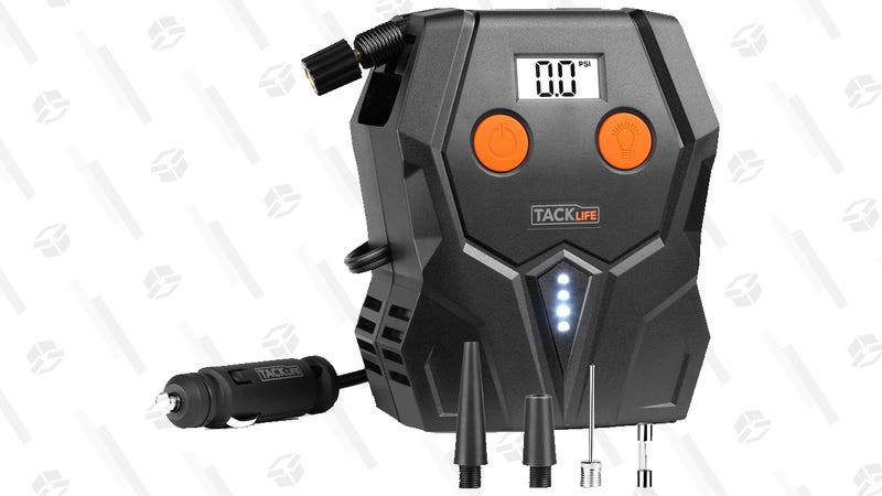 Tacklife 12-Volt Tire Inflator | $9 via on-page coupon and code 34RRW677 | Amazon