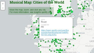 Spotify Map Shows the Most Heard Songs in Various Cities Around the World
