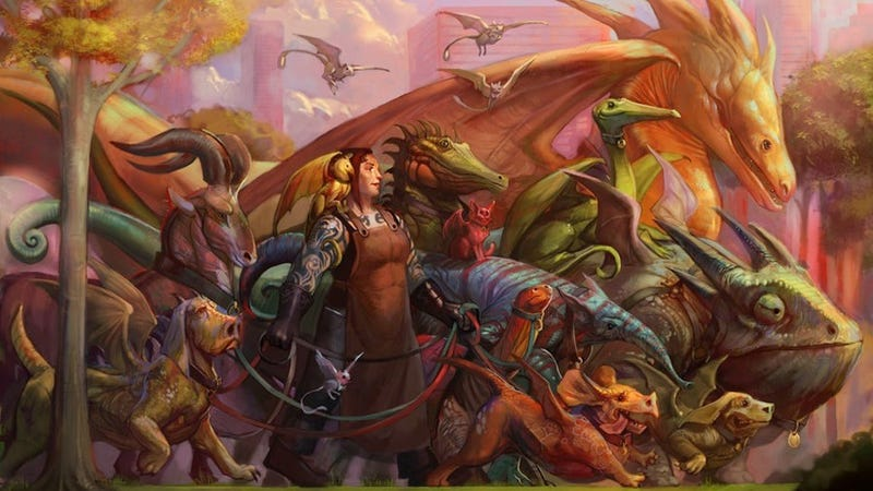 Illustration for article titled Concept Art Writing Prompt: The Dragon Walker