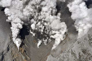 Illustration for article titled Japanese Volcano Violently Erupts, Sending Hikers Racing To Safety