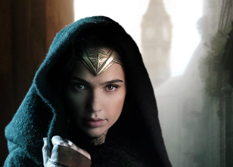 Illustration for article titled Wonder Woman Gives You A Piercing Stare In The First Official Movie Picture