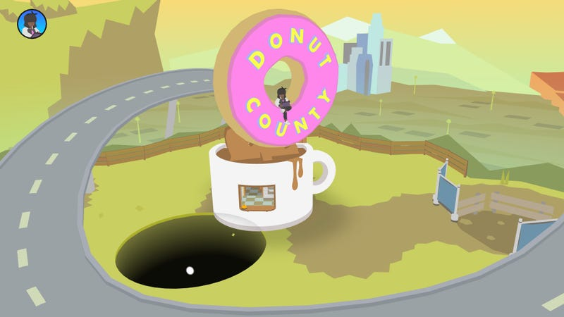 Illustration for article titled Donut County, A Game About Being A Bottomless Hole, Is Fun But Somehow Shallow