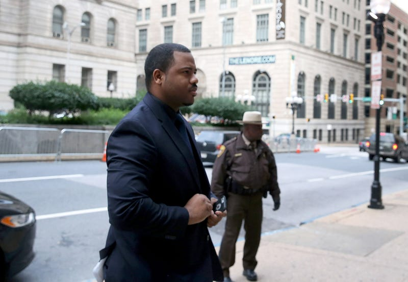 Baltimore Police Officer William Porter as he arrived to court in Baltimore for his own trial in the Freddie Gray case Dec. 16, 2015. Porter, one of six Baltimore police officers charged in Gray's death, testified  June 13, 2016, in the trial of fellow Police Officer Caesar Goodson regarding Gray's death.Mark Wilson/Getty Images