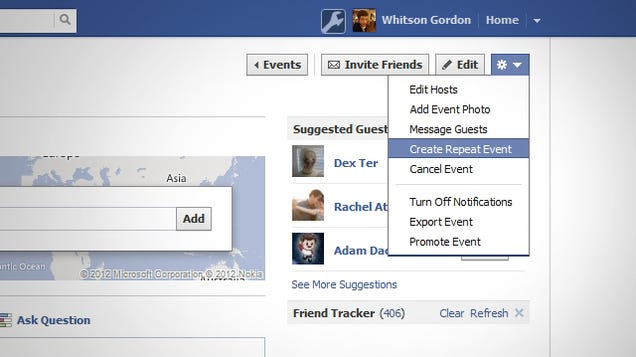 how to make a recurring event on facebook